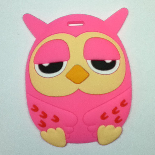 L00354 - Pink Owl Luggage Tag
