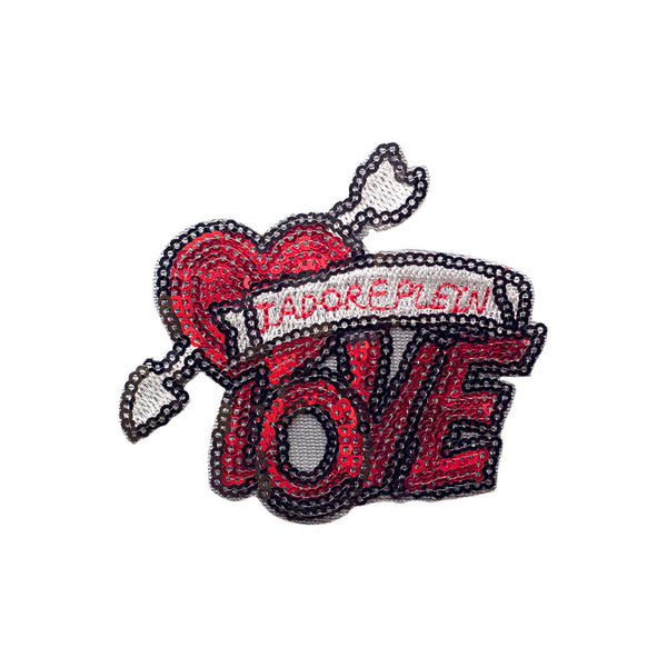 PT405 - Sequin Love Heart (Iron on)