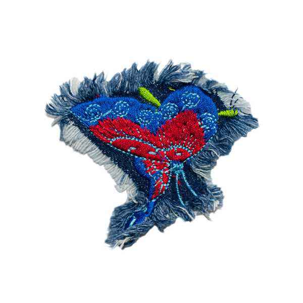 PT606 - Denim red-blue Butterfly (Sew on)