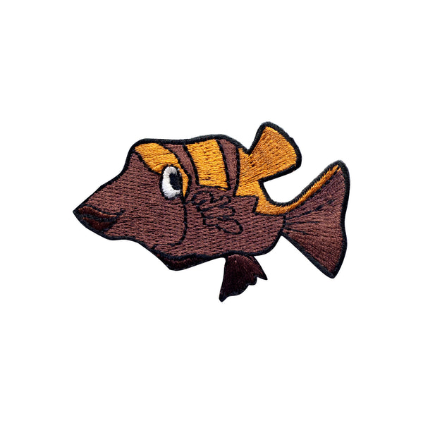 PT348 - Brown Fish (Iron on)