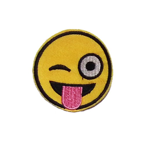 PH201 - Winking eyes w/Tongue out (Iron on)