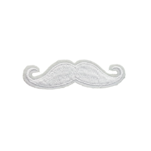 PH191 - Moustache White (Iron on)