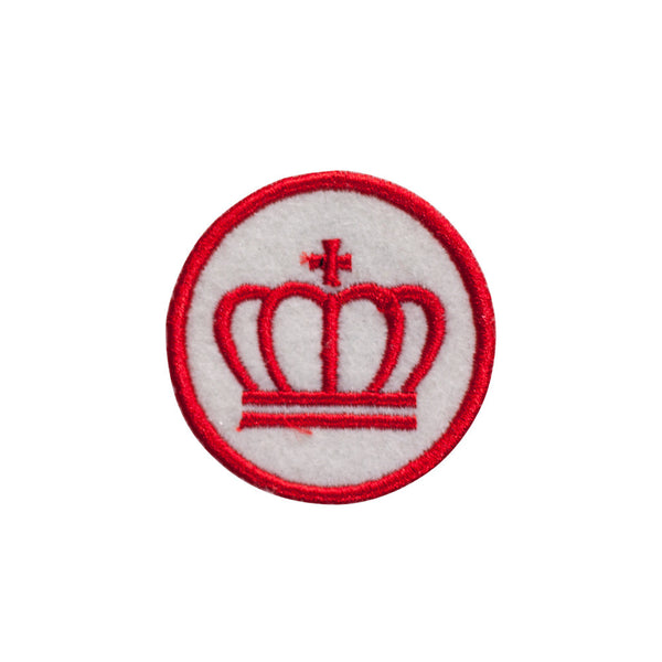 PH731 - Red Crown Badge (Iron on)