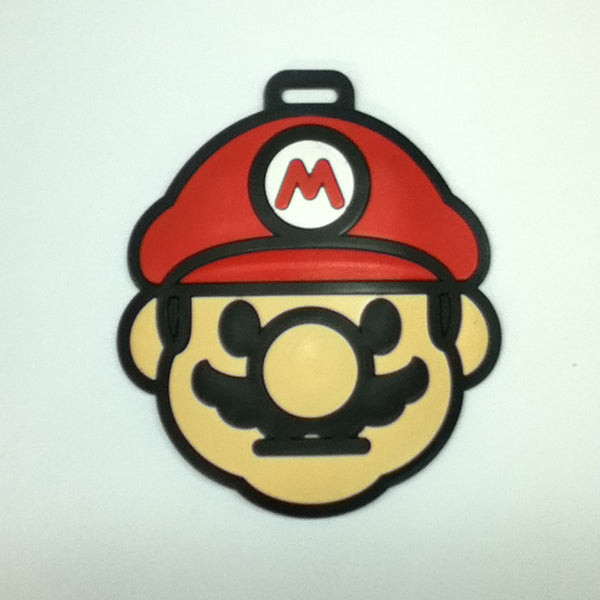 L00372 - Super Mario Head Luggage Tag