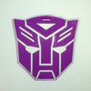L00347 - Purple Transformer Head Luggage Tag