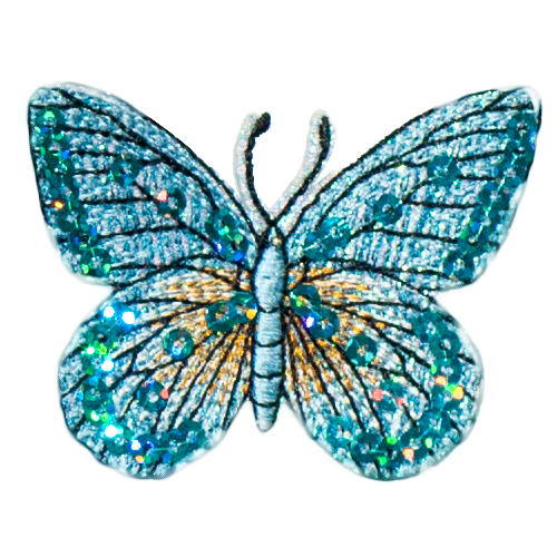 PH25 - Blue Butterfly (Iron on)