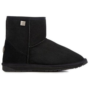 Emu Australian made Platinum Stinger Mini Sheepskin ugg Boot Ankle Height in Black