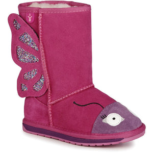 EMU Kids Butterfly Sheepskin Boots