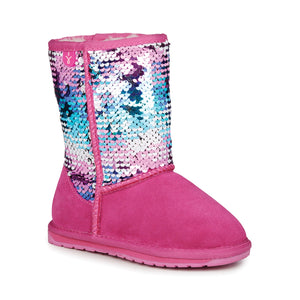 EMU Kids Wallaby Sequin Deep Pink