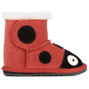 EMU Kids Ladybird Walker Sheepskin Boots