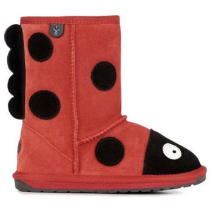 EMU Kids Ladybird Sheepskin Boots | RE STOCKED!