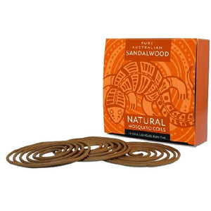 Natural Mosquito Coils Sandalwood 10pk