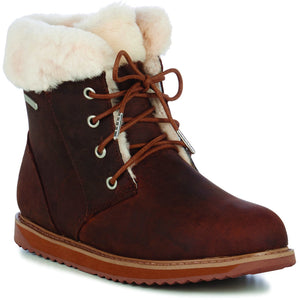 EMU Shoreline Leather Lo | Waterproof | Lace up Sheepskin Boot