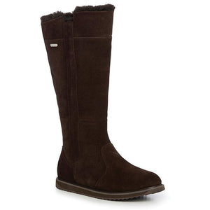 Emu Moonta tall waterproof sheepskin winter boots espresso brown colour side zip
