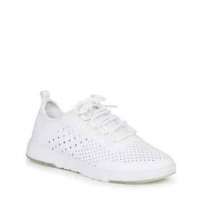 Emu Australia white Miki wool mesh sneaker with white laces side view