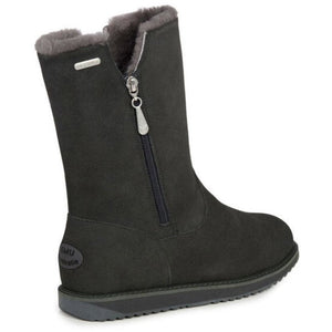 Emu Gravelly waterproof sheepskin boots with side zip in dark grey colour