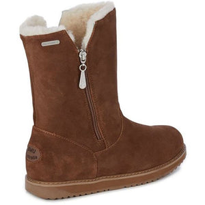 Emu Gravelly waterproof sheepskin boots with side zip in oak brown colour