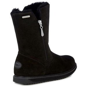 EMU Gravelly Black Womens Waterproof Sheepskin Boots