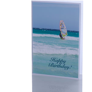 Greeting Card - Happy Birthday | Windsurfer