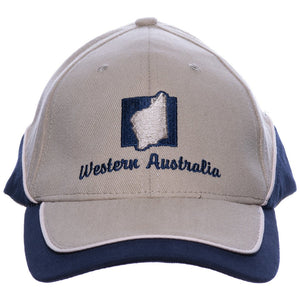 Cap Washed Cotton WA Khaki Navy