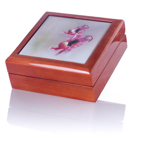 Jewellery/Keepsake Box - Zebra Orchids