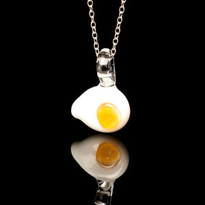 Glass Pendant | Fried Egg