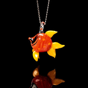 Glass Pendant - Red Fish