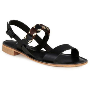 Emu Fig ~ Comfy Leather Sandal ~ Black