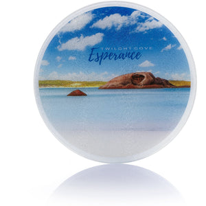 Glass Chopping Board - Twilight Cove - Printed in Esperance