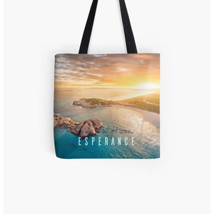 Twilight Cove Aerial Sunset | Tote Bag | Beach Bag | Shopping Bag