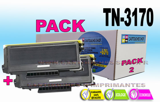 TN3170 BROTHER TN-3170 PACK x2