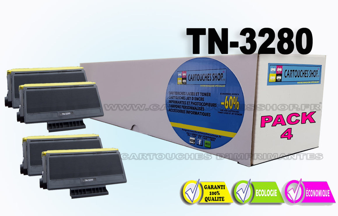 TN 3280 PACK X4 BROTHER TN-3280