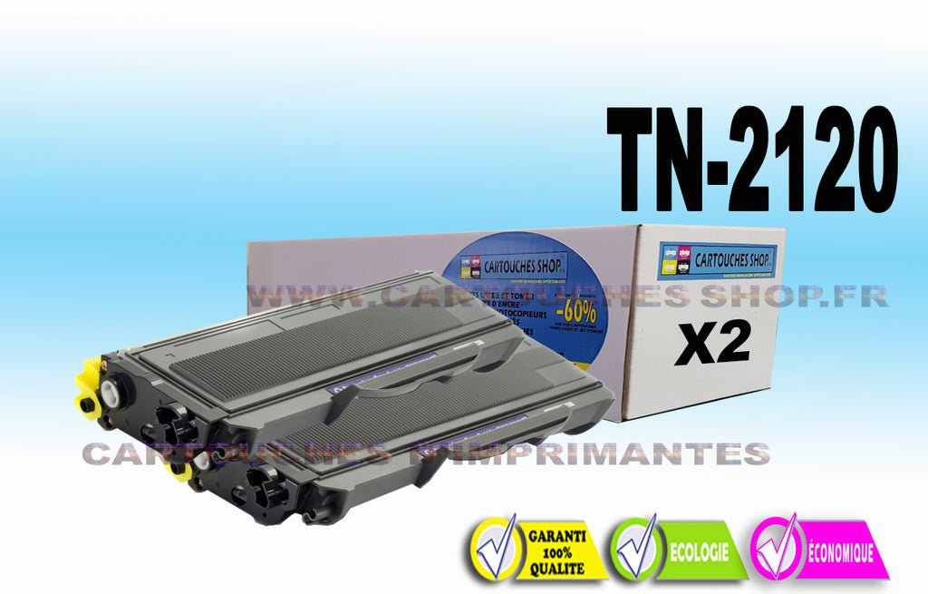 TN2120 BROTHER TN-2120 PACK DE 2 TONERS