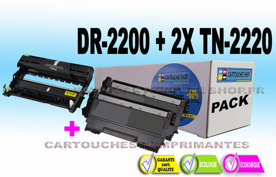 TN2220 + DR2200 BROTHER DR-2200 2X TN-2220