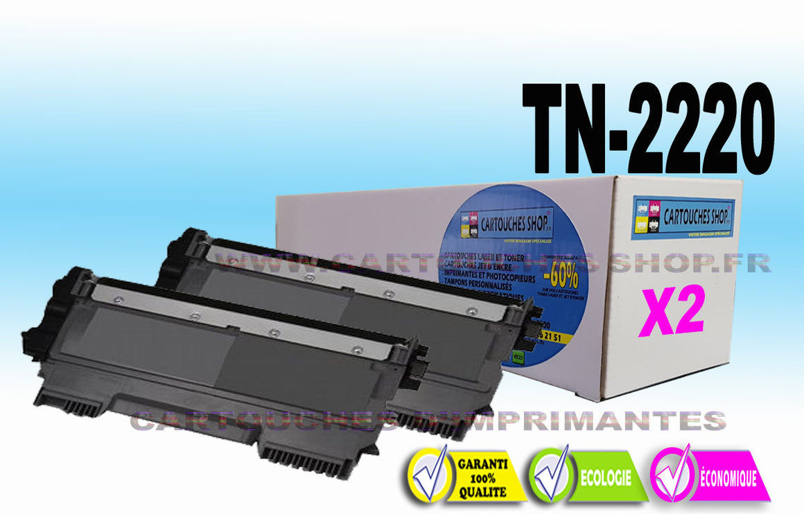 TN2220 BROTHER TN-2220 PACK DE 2 TONERS