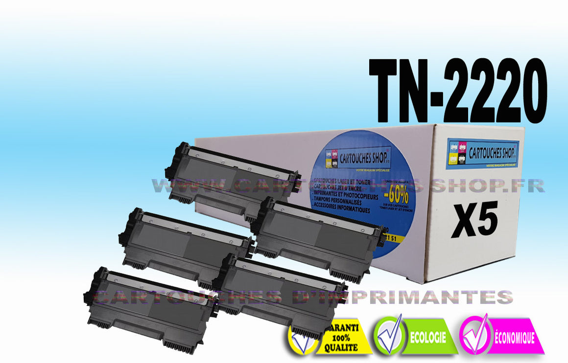 TN2220 BROTHER TN-2220 PACK DE 5 TONERS