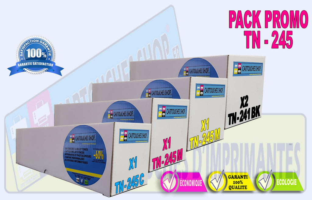 PACK PROMO BROTHER TN241 BK NOIR TN245