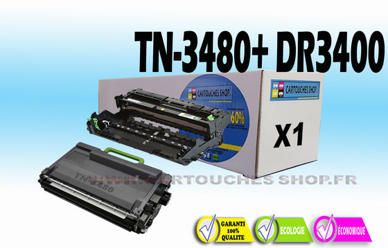 TN3480 + DR3400 BROTHER TN-3480 + DR-3400