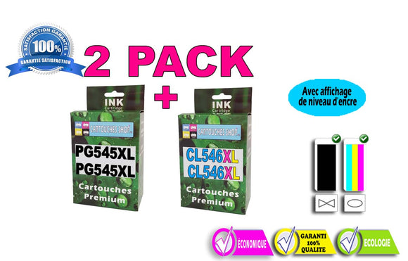 PACK CANON 2x PG-545 XL / 2x CL-546XL