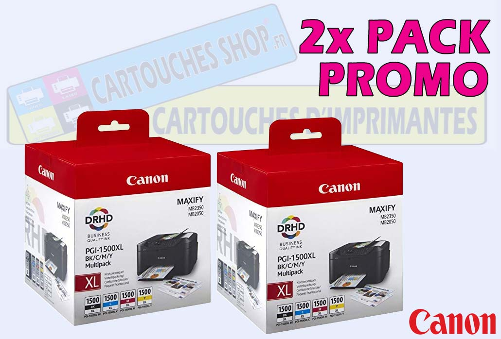 2x PACK CANON PGI 1500XL