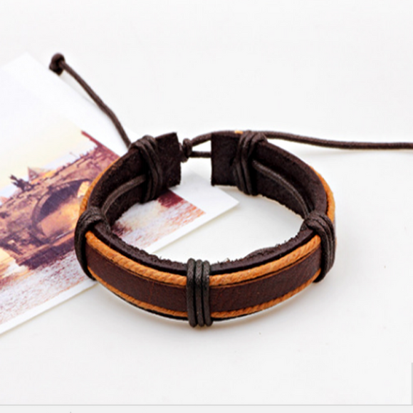 Daxton Mens Leather Bracelets