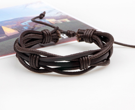 Knox Mens Leather Bracelet