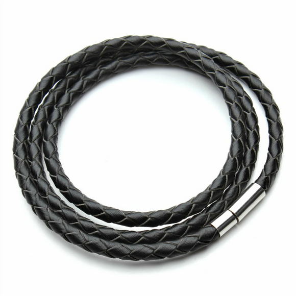 Black PU Leather Bracelet