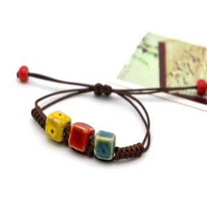 Colorful Vintage Cube Bracelet for Men & Women