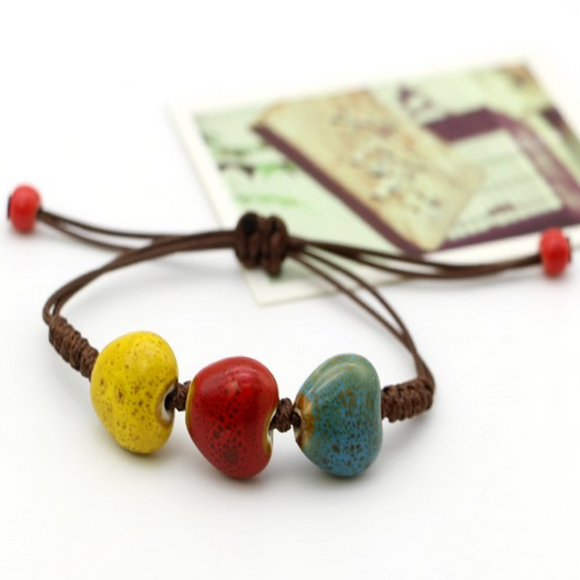 Colorful Vintage Heart Bead Bracelet for Men & Women -Casual