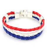 Multicolored France Football Bracelets for Men