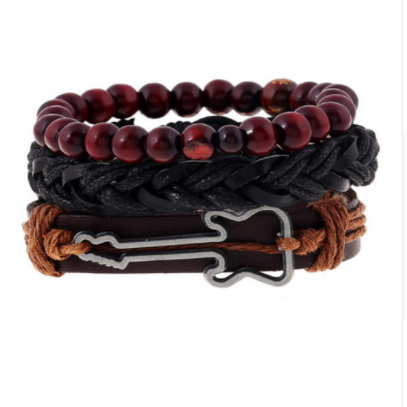 Guitar Gear Style Stack Up Bracelets