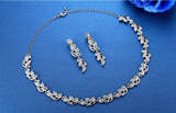 Precious Silver Leaves Bridal Jewellery Wedding Set
