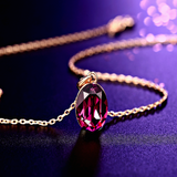 Deep Purple Pendant Chain Necklace - Online Shopping