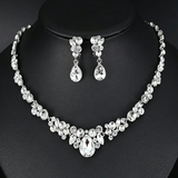 Honey Teardrop Crystal Bridal Jewellery Wedding Set